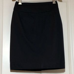 J. Crew Pencil Skirt In Navy Super 120s Wool